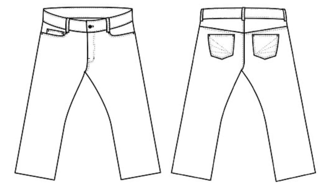 Halfmoon Atelier 101 jeans diagram