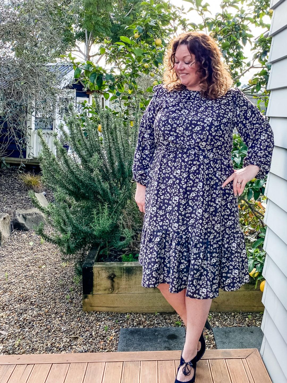 Friday Pattern Company Davenport Dress Pattern Review- final dress