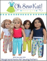 Playground Pants Pattern by Oh Sew Kat! www.ohsewkat.com