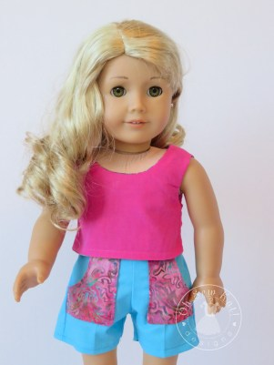 PDF sewing patterns for dolls Oh Sew Kat! popsicle Top and Sandbox Shorts