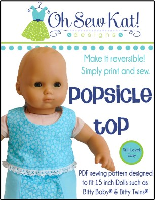 Sewing patterns for bitty baby and bitty twins by oh sew kat