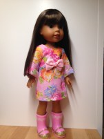 Sewing patterns for dolls WellieWishers by Oh Sew Kat