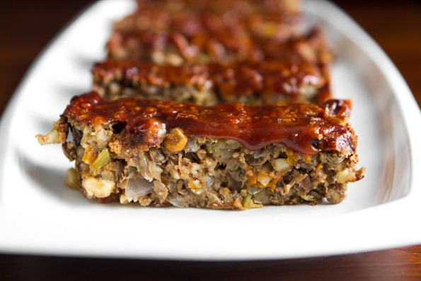 Lentil Loaf 2 3   Glazed Lentil Walnut Apple Loaf, Revisited