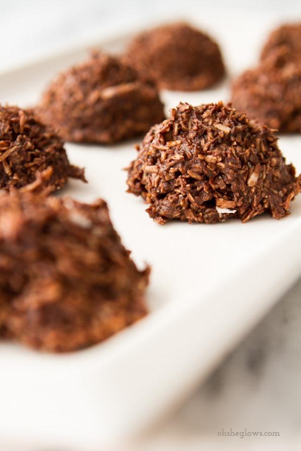 macaroonsnobakeveganchocolate 2670   No Bake Chocolate Macaroons