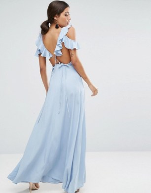 Delicate Ruffle Wrap Front Cami Maxi Dress