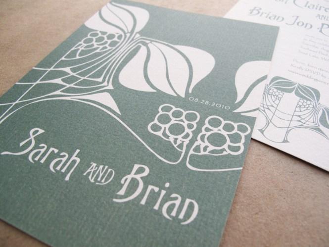 Art Nouveau Wedding Invitations By Starshaped Press Via Oh So Beautiful Paper 3