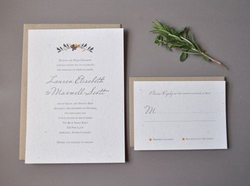 Digitally Printed Modern Wedding Invitation
