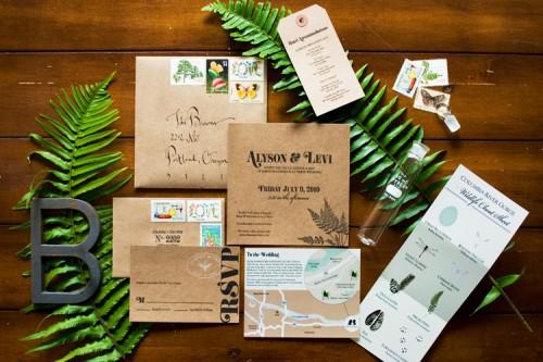 woodland wedding invitations 500x333