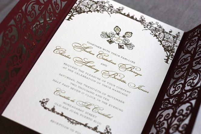 Spanish Lace Wedding Invitation