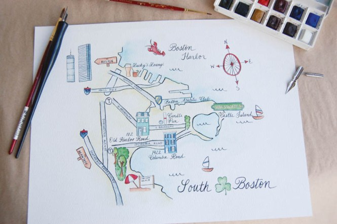 Marvelous Draw Map For Wedding Invitation 66 Your Modern Invitations With