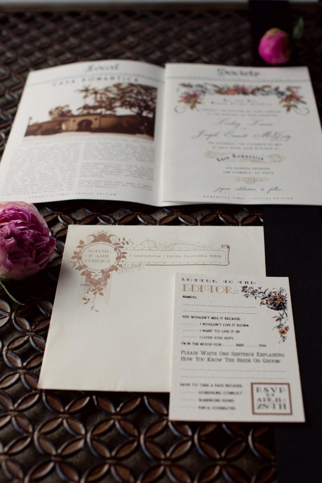 Lindsay S Newspaper Wedding Invitations