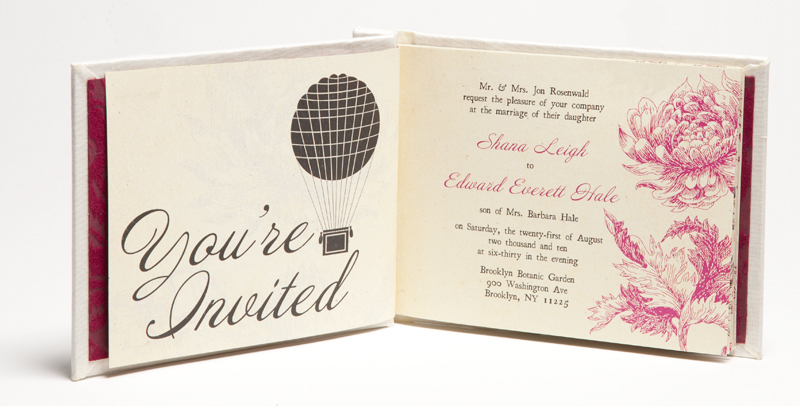 Creative Book Custom Wedding Invitations All