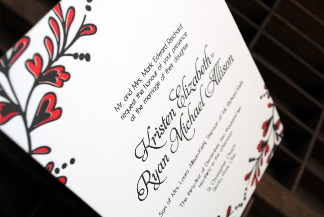 Red Black And White Wedding Invitations To Create Your Invitation With Surprising Design 2