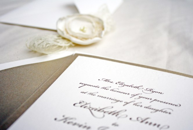 Gold And Glamour Wedding Invitations