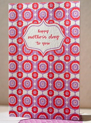 Smock Mothers Day Card Red Purple 300x407