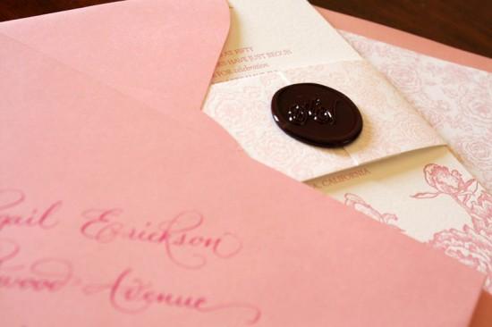 Zenadia Pink Peony Letterpress Invitations6 550x366