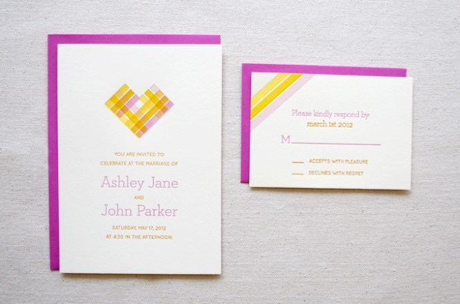 Blush Pink And Gold Wedding Invitat