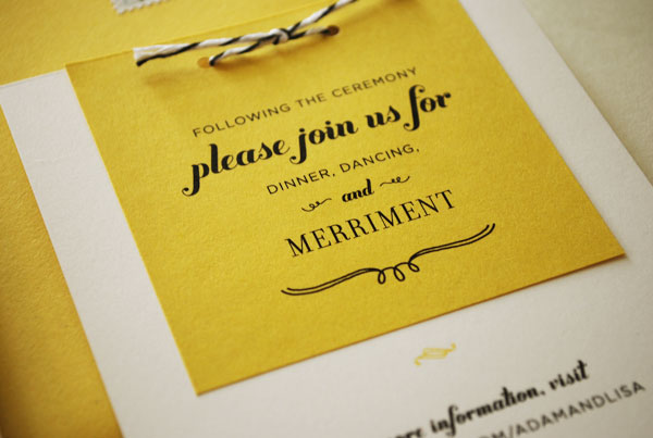 Adam S Yellow Fl Wedding Invitations