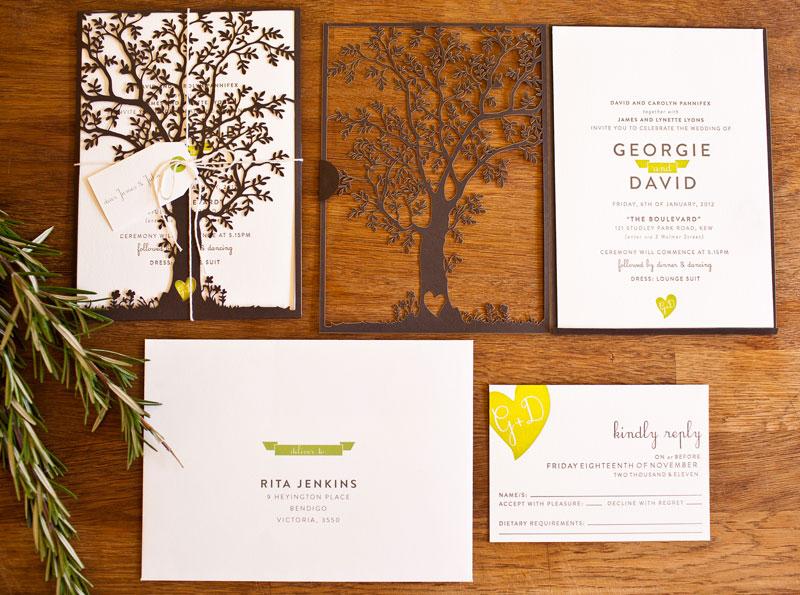 dave s nature inspired wedding invitations