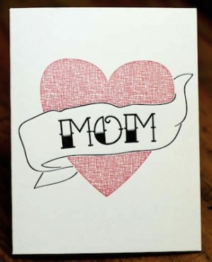 Hawk Gerber Tattoo Mothers Day Card 300x370 Mothers Day Cards, Part 3