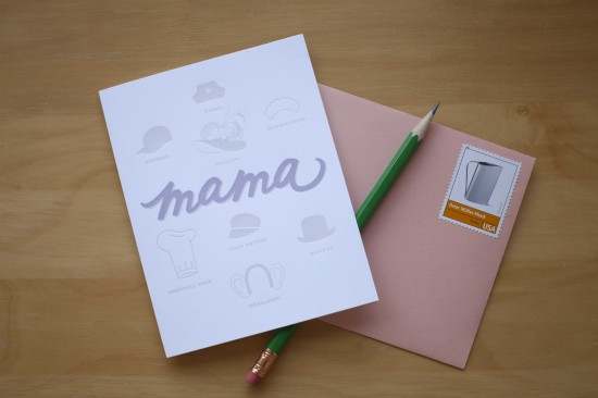 mama hat papermade 550x366 Mothers Day Cards, Part 3