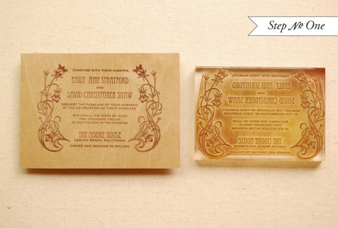 Custom Wedding Invitation Stamp Elegant Monogram W2