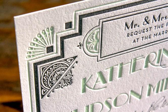 Great Gatsby Inspired Art Deco Wedding Invitations
