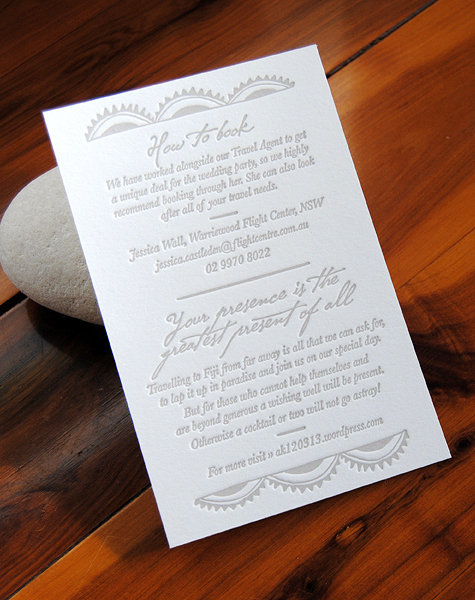 Fiji Destination Wedding Invitations Via Oh So Beautiful Paper 5