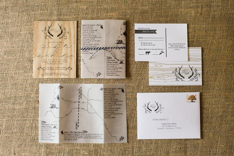 Rustic Wedding Invitations Paper