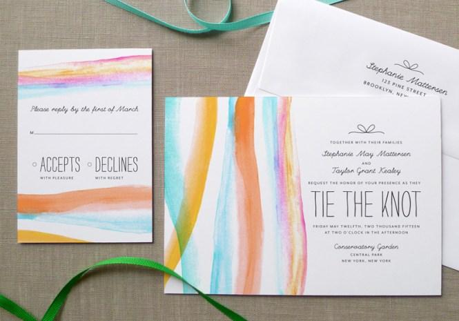 Gorgeous Watercolor Wedding Invitations 6 4