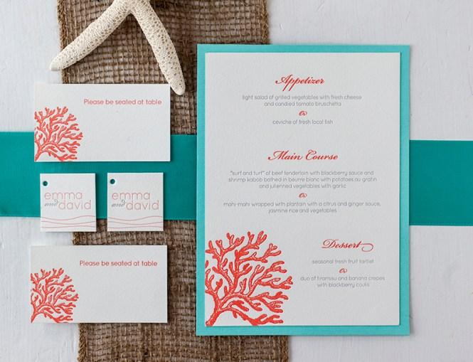 Palm Leaf Wedding Invitation Banana Tropical Beach Inspired Destination