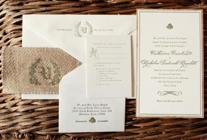 Catherine Nick S Rustic Burlap And Wood Wedding Invitations