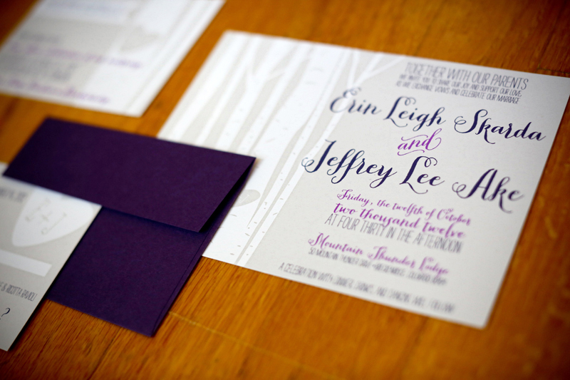 Screen Printed Rustic Colorado Wedding Invitations By O There Design Via Oh So Beautiful Paper