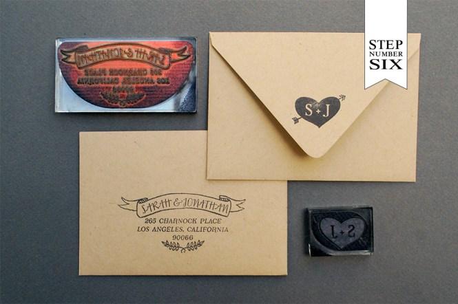 Vintage Brown Paper Wedding Invitation Set