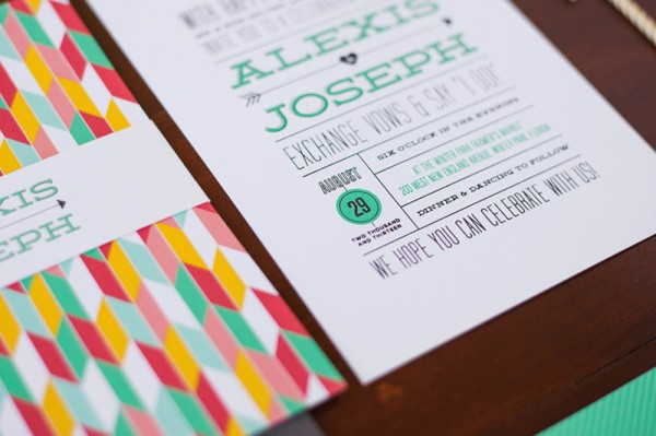Colorful Arrows Hearts Wedding Invitations By Renee Nicole Design Via Oh So Beautiful Paper