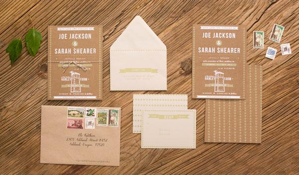 Turn Envelope Into Diy Wedding Invitation Pocket Print
