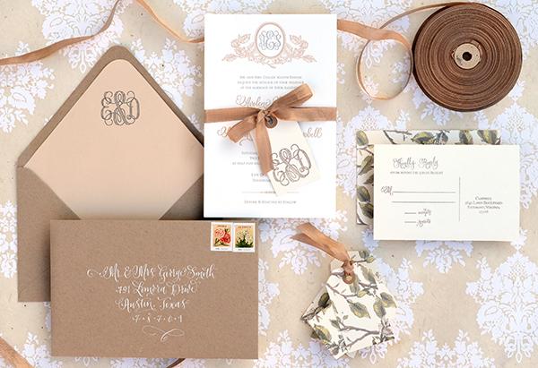 Rustic Yet Modern Diy Wedding Invitation Template Directions