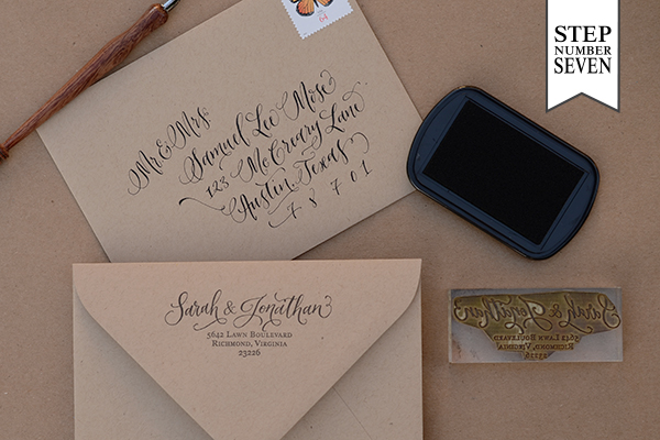 Diy Rubber Stamp Banner Wedding Invitations