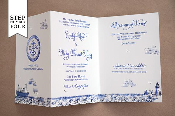 Lovely Sash Rose Tri Fold Laser Cut Whole Pocket Wedding Invitations Wpfb2123