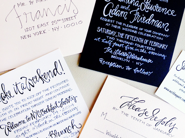 Hand Lettered Nyc Wedding Invitations Grey Snail Press3