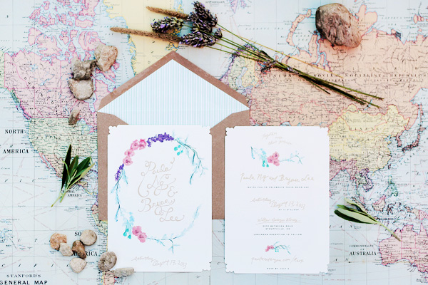Whimsical Fl Wedding Invitations