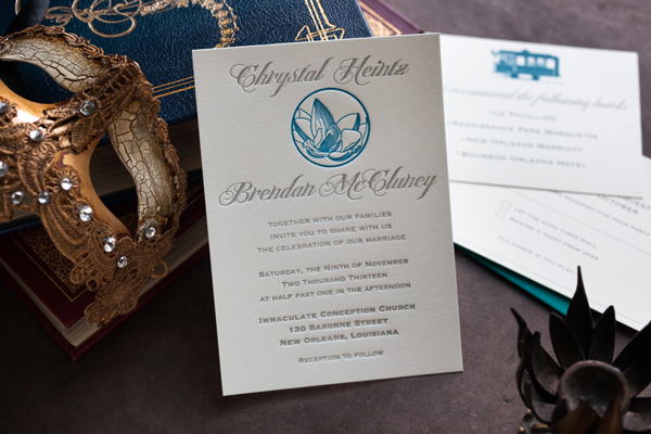 Wedding Invitations New Orleans: Chrystal + Brendan's Magnolia Bloom New Orleans Wedding