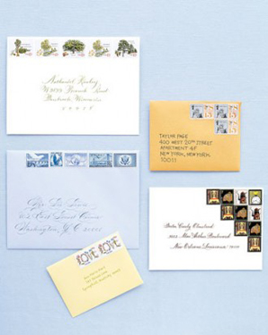 Custom Wedding Invitation Stamp Vintage Poster Newspaper W1