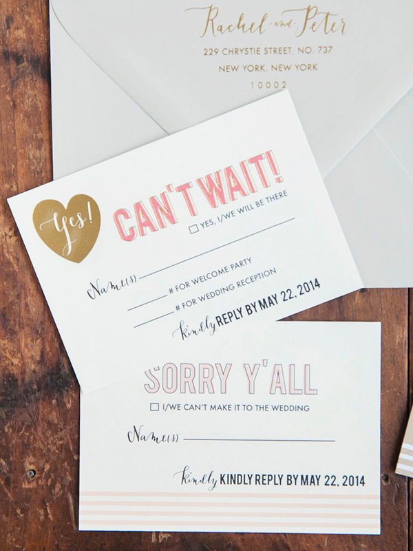 Modern Calligraphy Letterpress Invitations In Blush With A Simple Watercolor Pink Envelope Liner