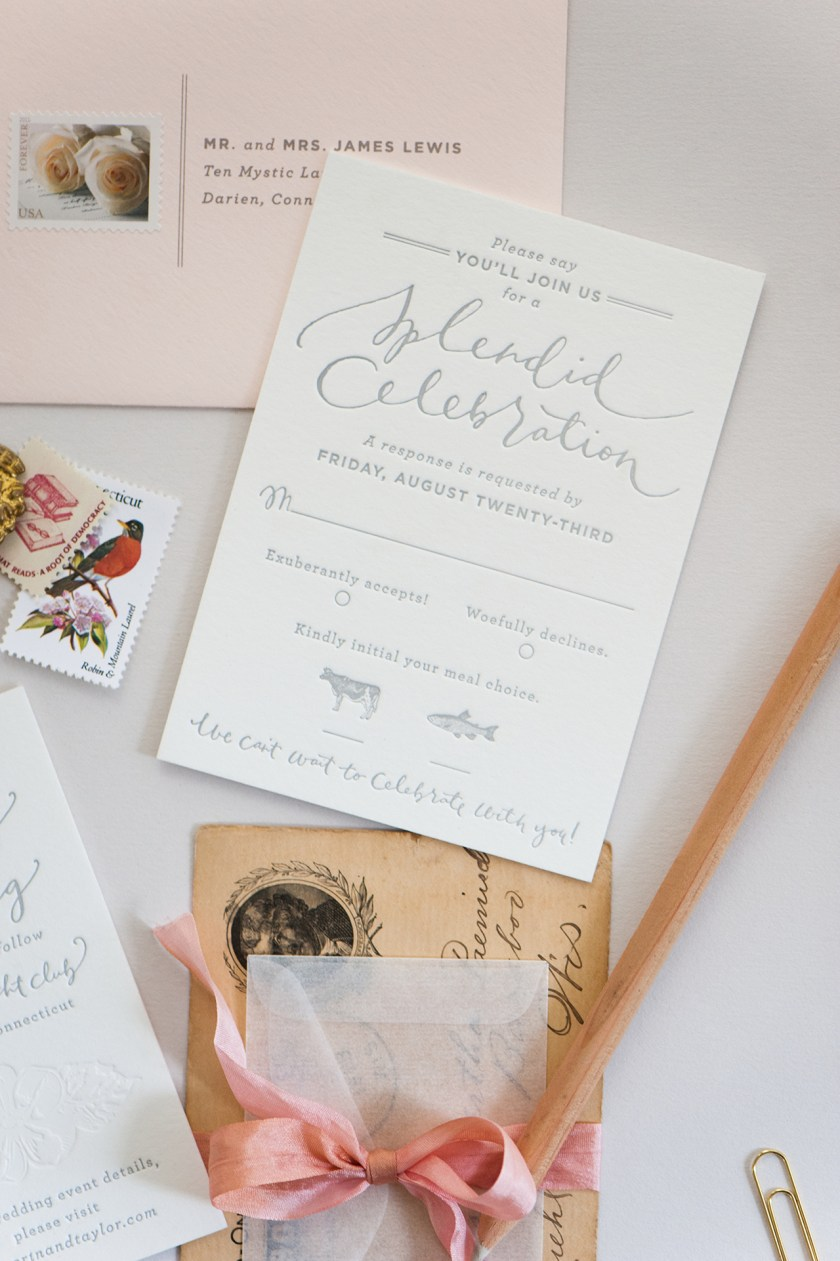 Romantic Blush And Gray Wedding Invitations By C Pheasant