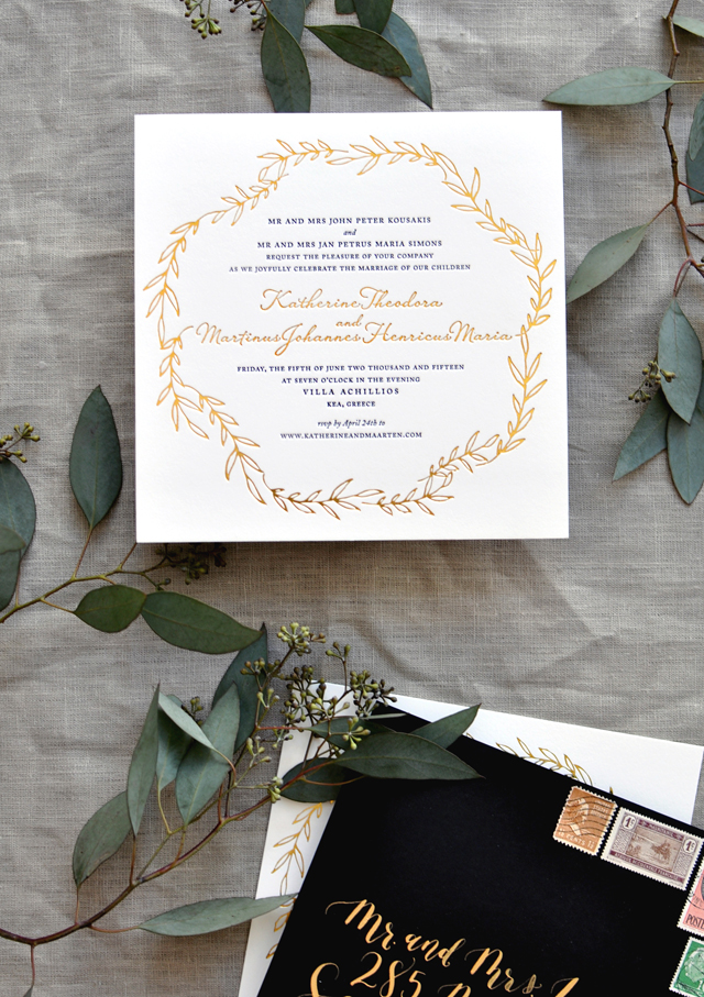 Pin It Flower Wedding Invite Trends
