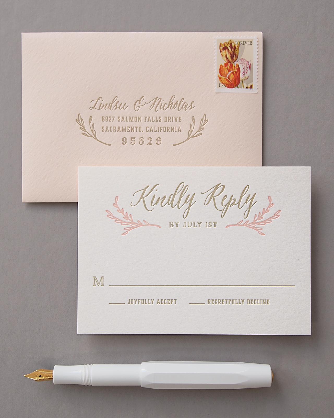 And Wedding Invitations Black White Trees