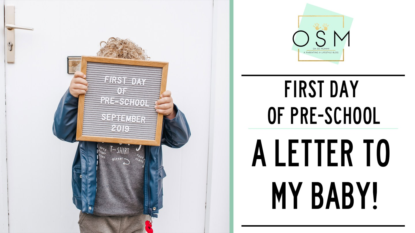 A letter to my son | First day of pre-school