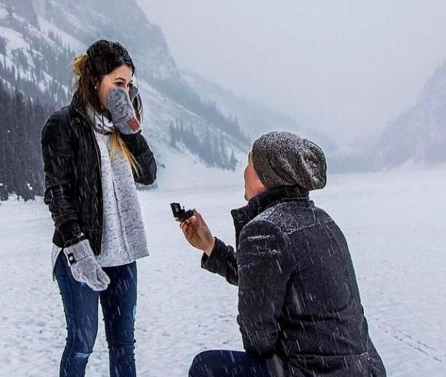 Best Romantic Proposal Idea Winter Proposal