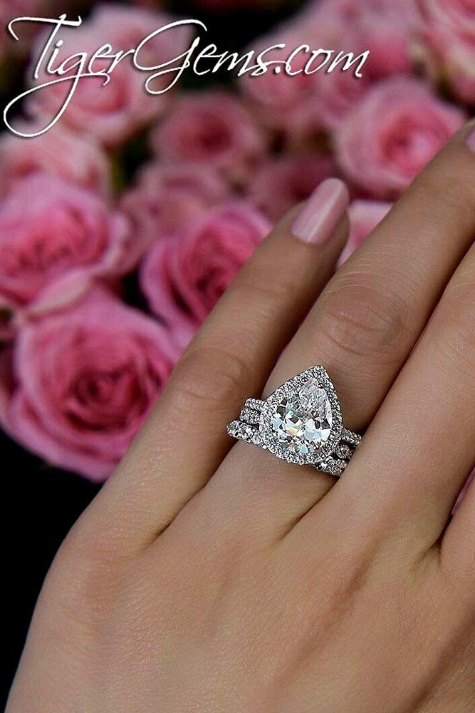 27 Stunning Pear Shaped Engagement Rings Oh So Perfect